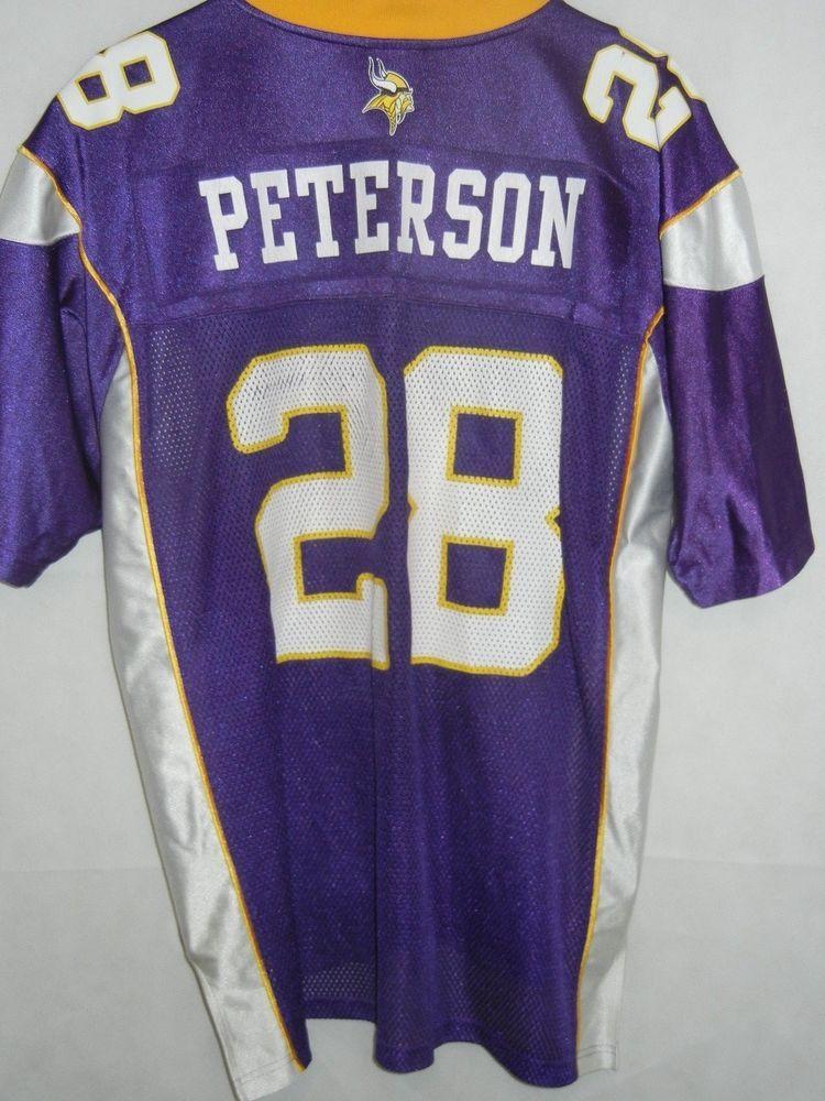 Adrian Peterson Minnesota Vikings men's large Reebok jersey purple