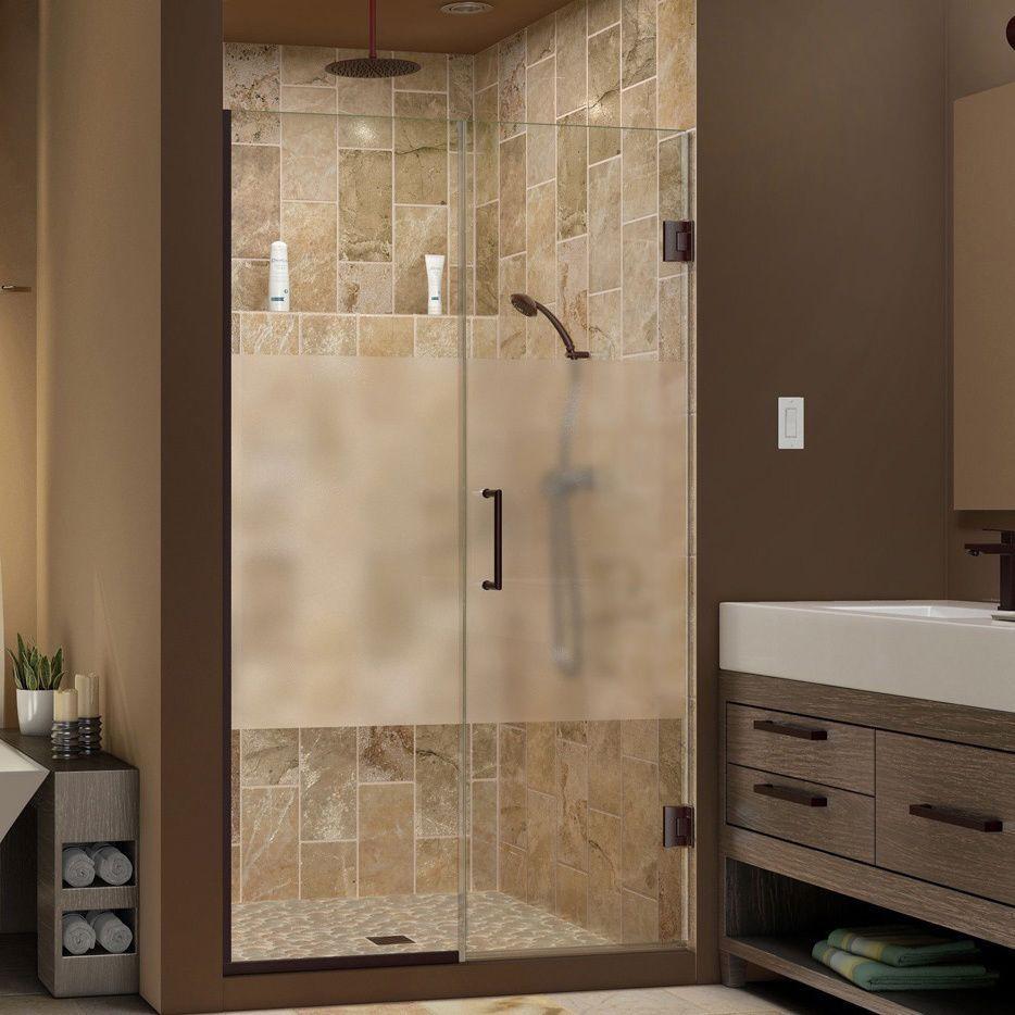 DreamLine Unidoor Plus 44 - 45 in. W x 72 in. H Hinged Shower Door ...