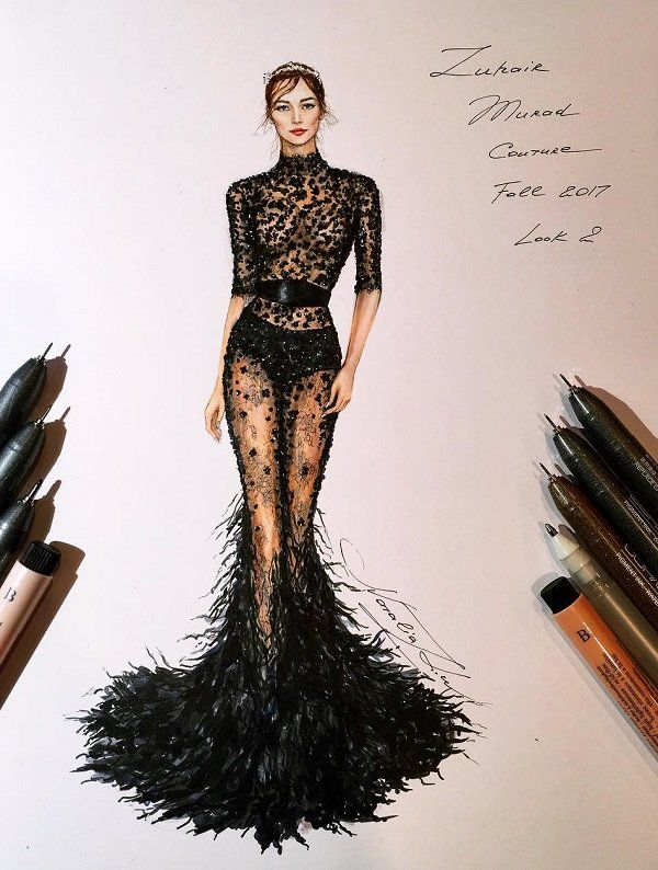 Photo of Fashion Illustrations by Natalia Zorin Liu | Cuded