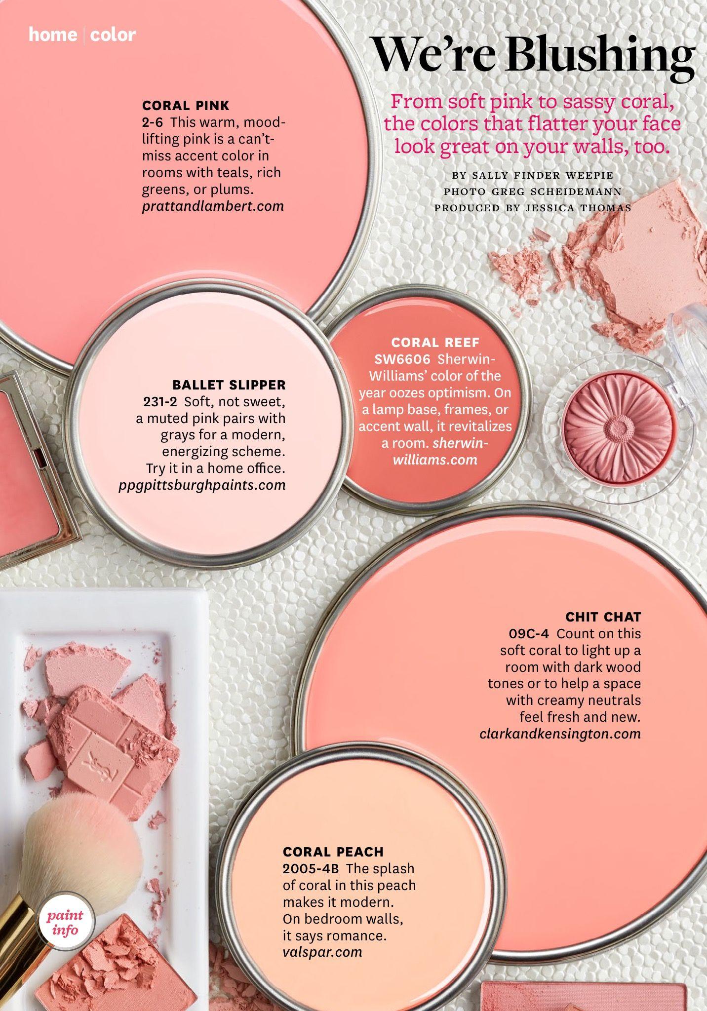 BHG~ We\'re Blushing | paint colours | Pinterest | Color inspiration ...