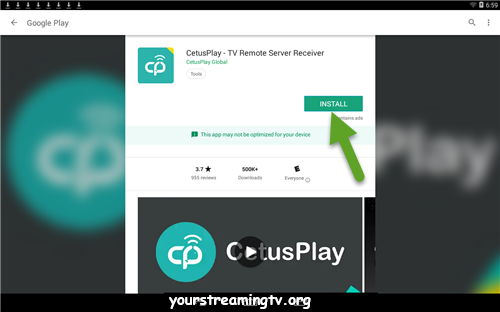 Cetusplay Remote Download Install Your Streaming Tv