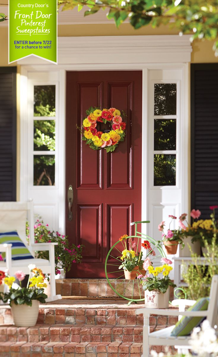 Sweepstakes From Through The Country Door Country Door Country Doors Front Door