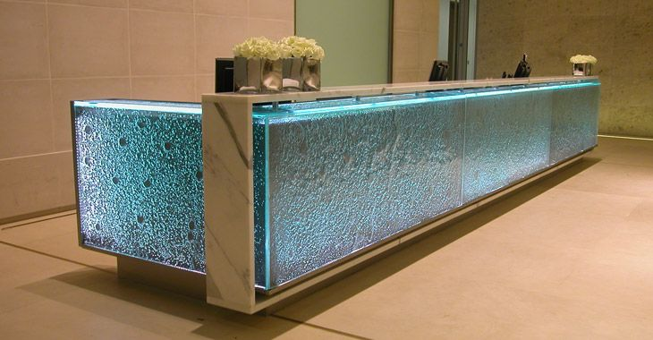 Leave It At The Reception Desk: Glass crafted look at this idea ...