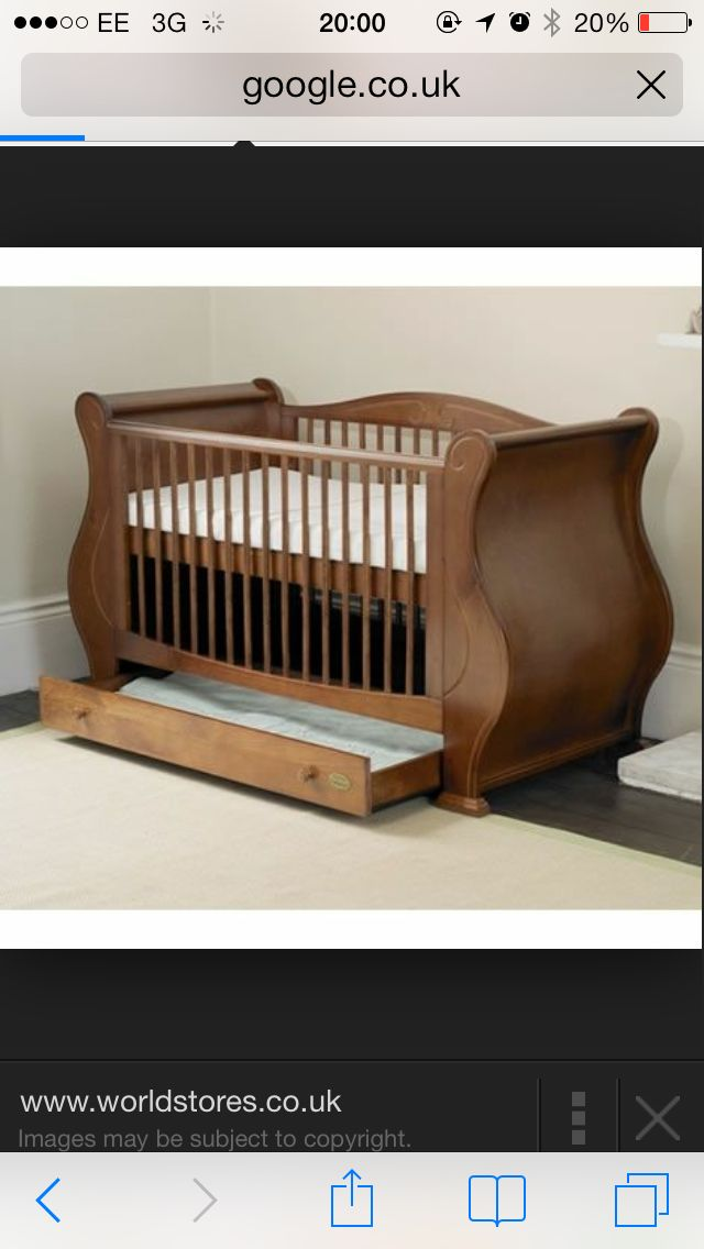 BABY Cot Bed Wood White Walnut Mattress Drawer Convertable to Junior Toddler Bed