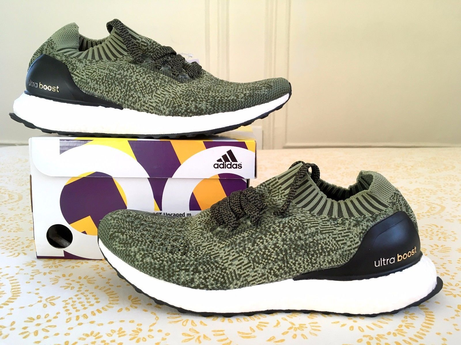 New Mens Adidas Ultra Boost Army Green Size 11 S80637 Running Shoes W/ Recieipt Green UK Online Ou