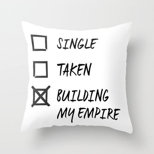 Decor Pillow Building My Empire By Misswithit On Etsy