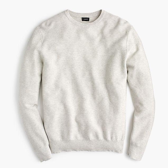 8224bdabe men s cotton crewneck sweater in garter stitch - JCrew