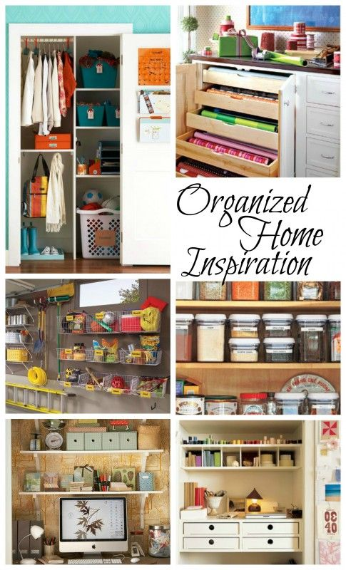 Organized Home Inspiration ideas organize home diy