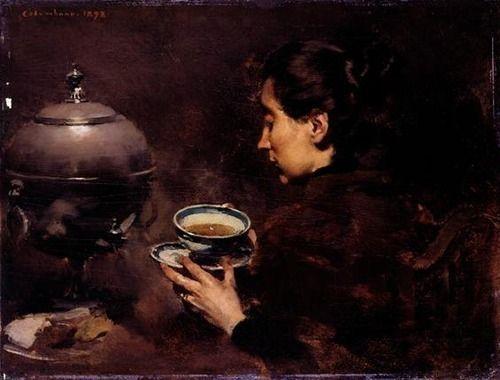 """A Chávena de Chá"" / ""The Tea Cup"" - Columbano Bordalo Pinheiro (Portugal, 1857-1929) - Pictify - your social art network"