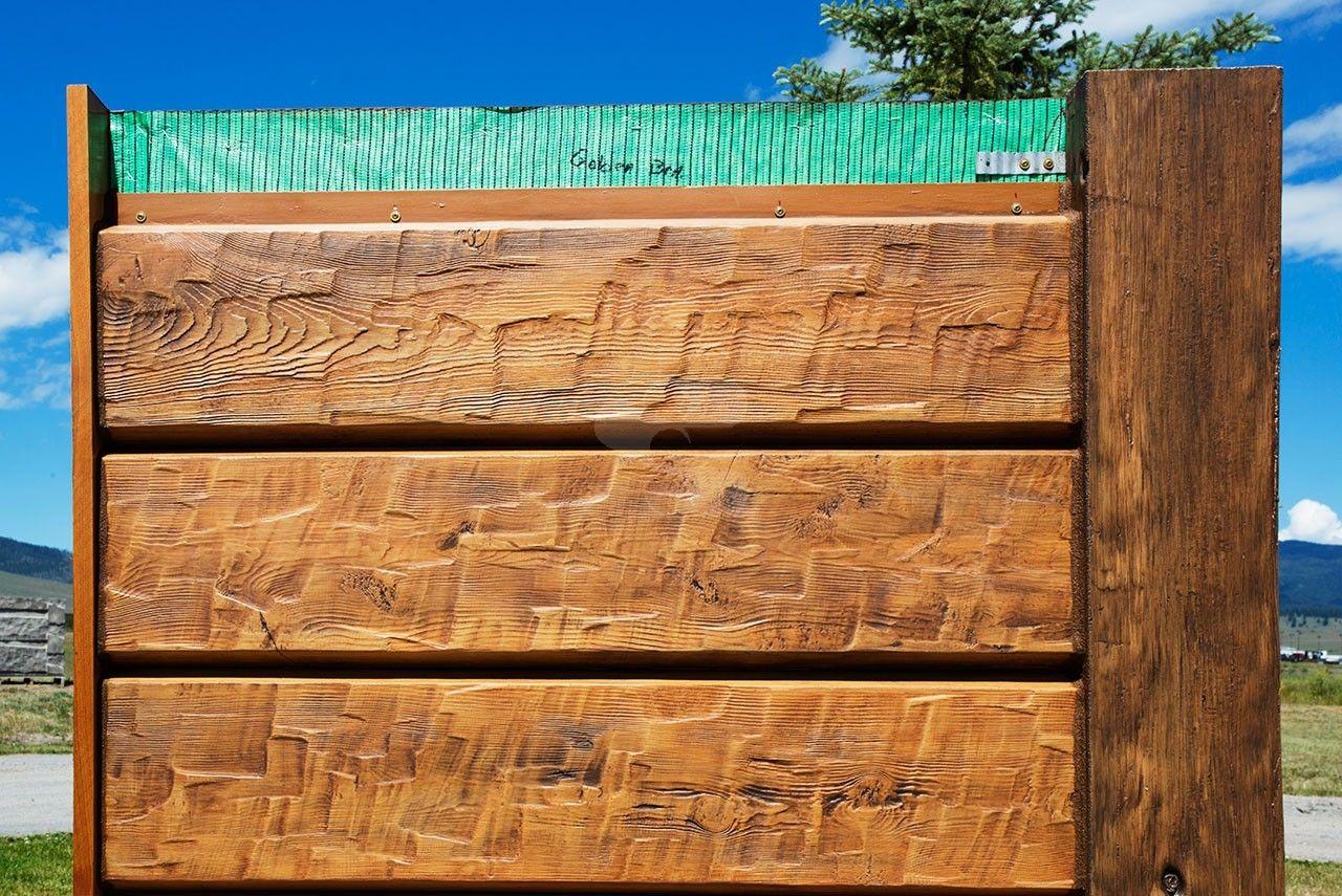 10 plank everlog concrete log siding chinkless joint for Log siding options