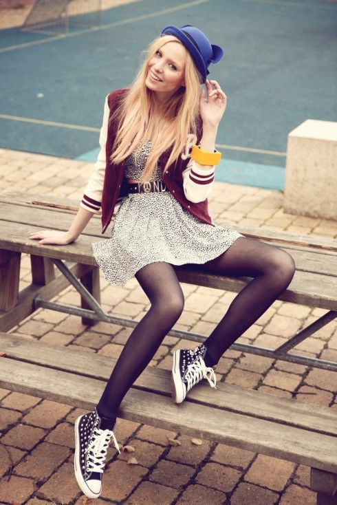 Teen Girl In Tights