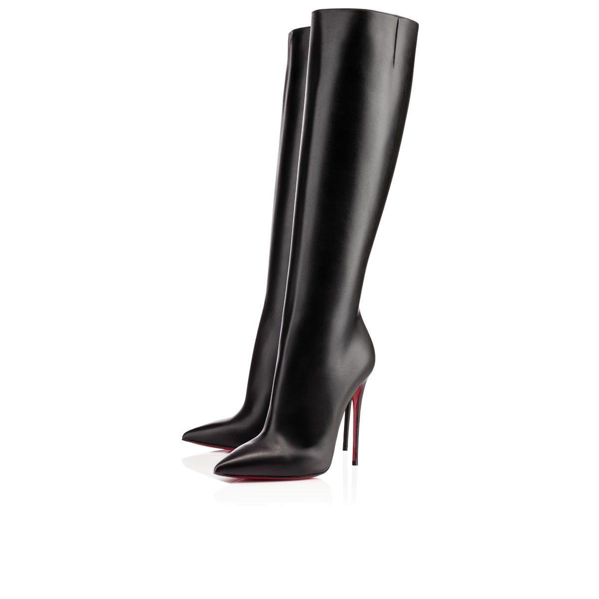 1396605b216 Tournoi 120mm Black Leather $1695 | Christian Louboutin Boots ...