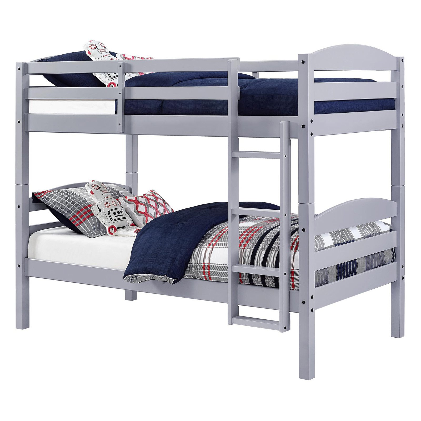 Better Homes Gardens Leighton Twin Over Twin Wood Bunk Bed Wood Bunk Beds Bunk Beds Cool Bunk Beds