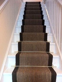 Superb Stair Runner Carpet Fitting W/ Stair Rods   Wholesale Carpets