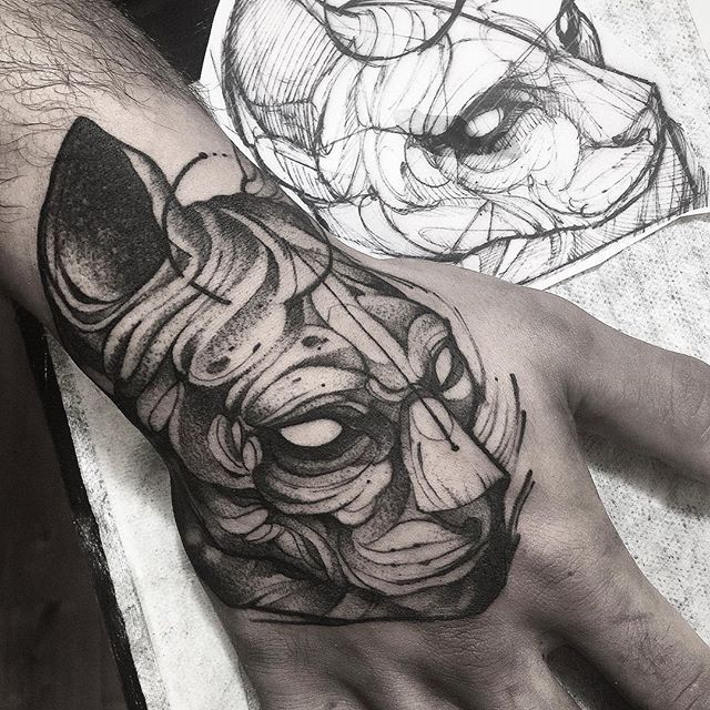 Cat tattoo by Fredao Oliveira @ fredao_oliveira