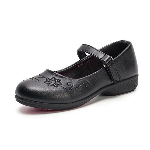 Hawkwell Girl/'s Black School Uniform shoes Dress Oxford Toddler Mary Jane Flat