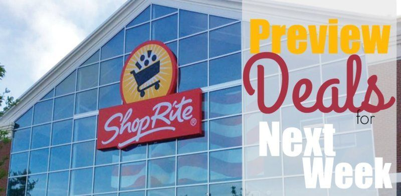 Preview of the Best Deals at ShopRite Starting 11/3 All