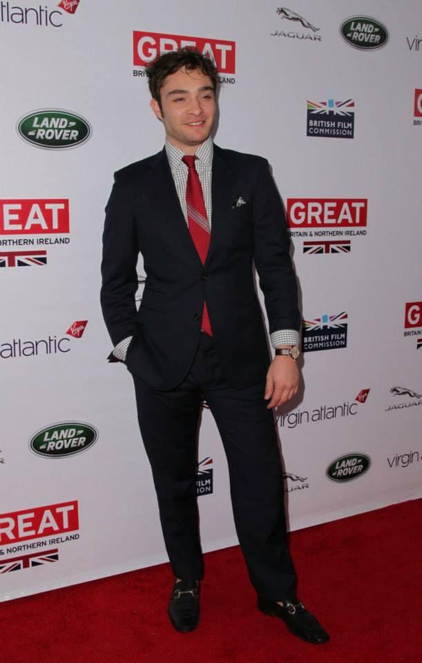 Ed @ the 2014 GREAT British Oscar Reception   Ed Westwick ...
