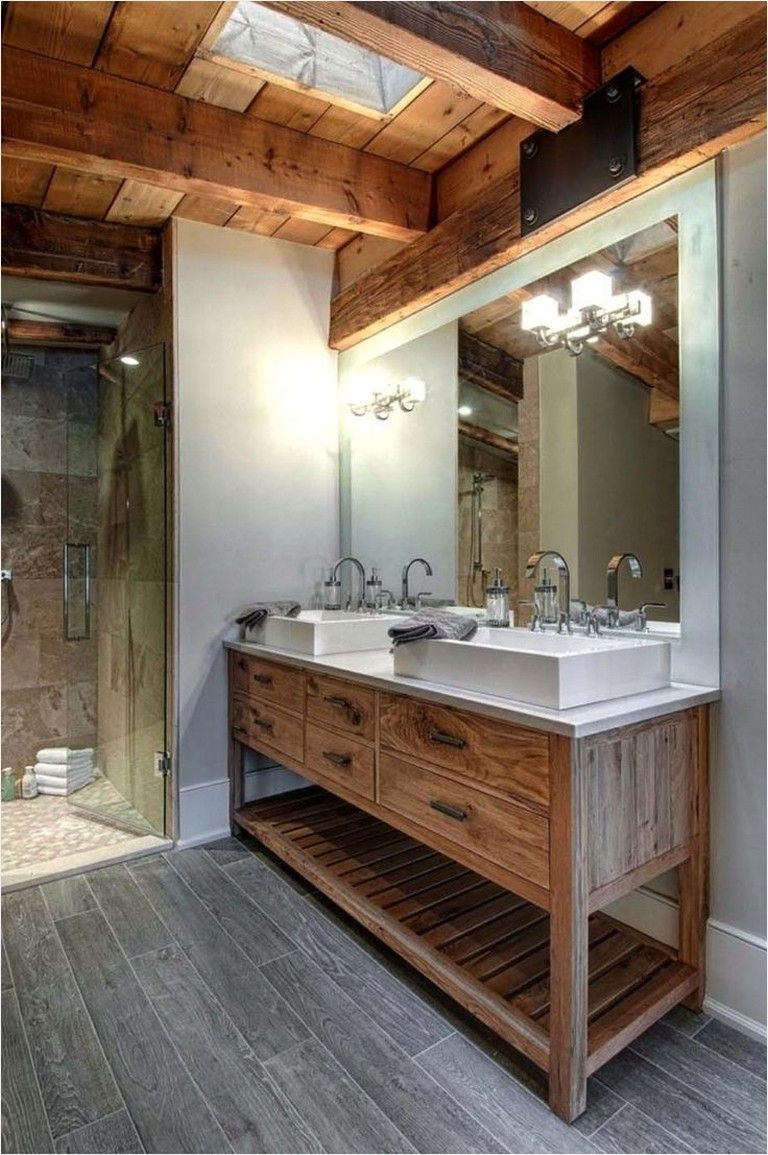 29 Best Rustic Bathroom Decor Ideas To Attempt In Your Home Rustic Bathrooms Farmhouse Master Bathroom Bathroom Remodel Master
