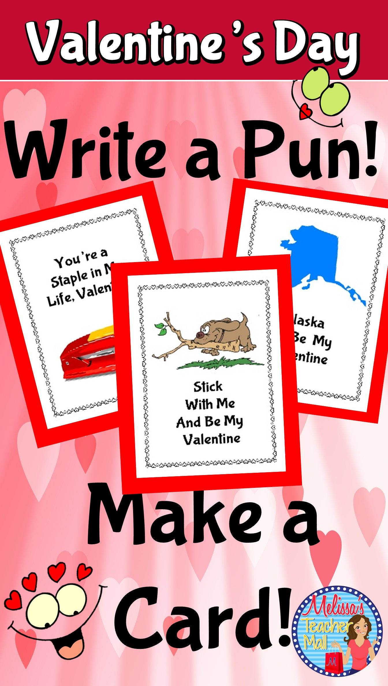 Valentines Day Activity Write a Pun Make a Card