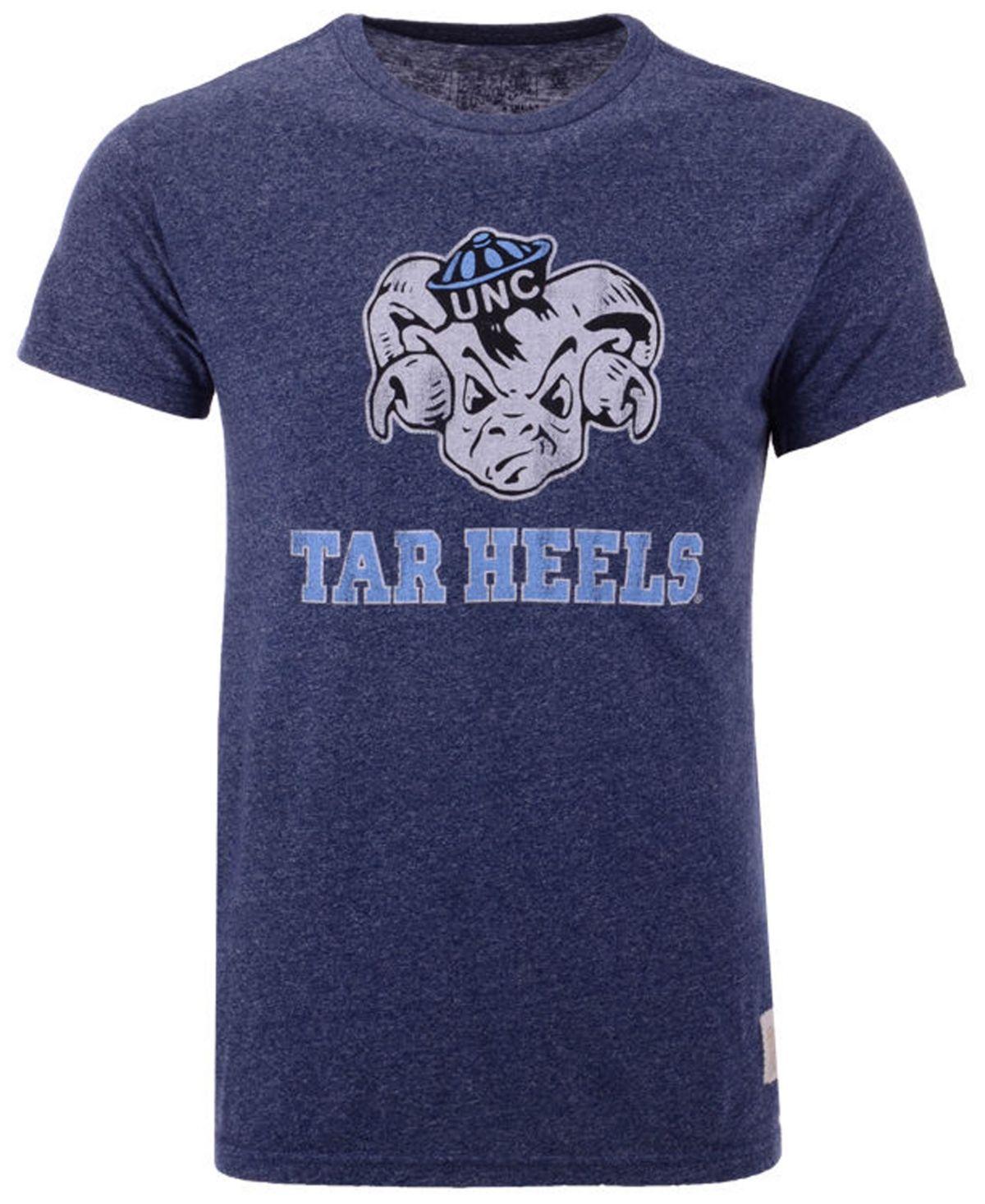 Retro Brand Men S North Carolina Tar Heels Mock Twist Vault Logo T