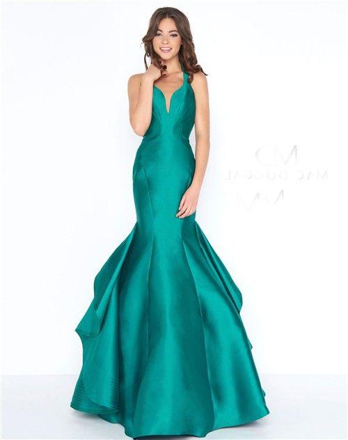 53450bd49bc Mermaid Sweetheart Open Back Emerald Green Satin Ruffle Evening Prom Dress  emeraldgreendress eveningdress