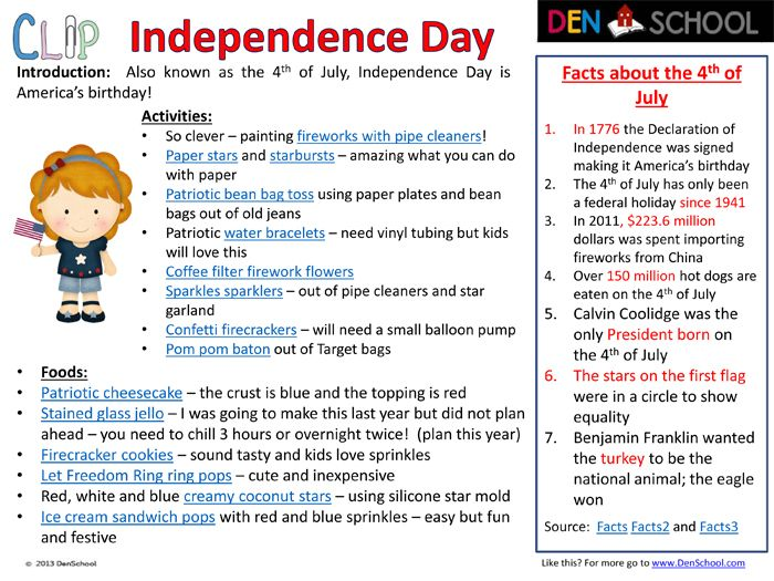 4th Of July Independence Day Fun And Educational Activities And