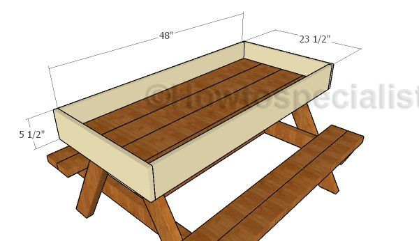 Sandbox Kids Picnic Table Plans With Images Kids Picnic Table