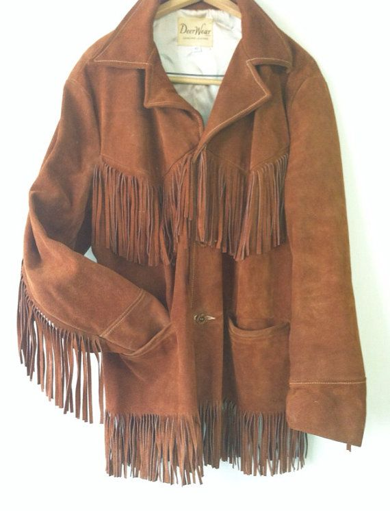 76ddebe17b0 Men's 70's Genuine Leather Fringe Jacket by piccadillyjunkery, $45.00