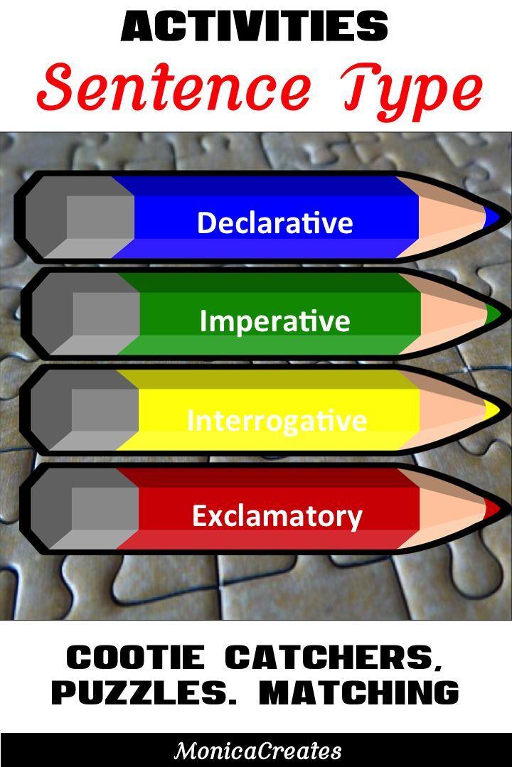 Sentence Types - Activities - Interrogative, Imperative, Declarative -CC L.1.1.J
