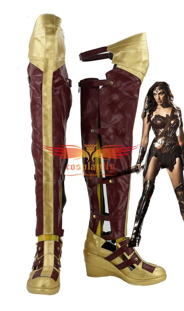 f287d82019574 Batman v Superman Wonder Woman Diana Prince Long Boots Cosplay Shoes ...