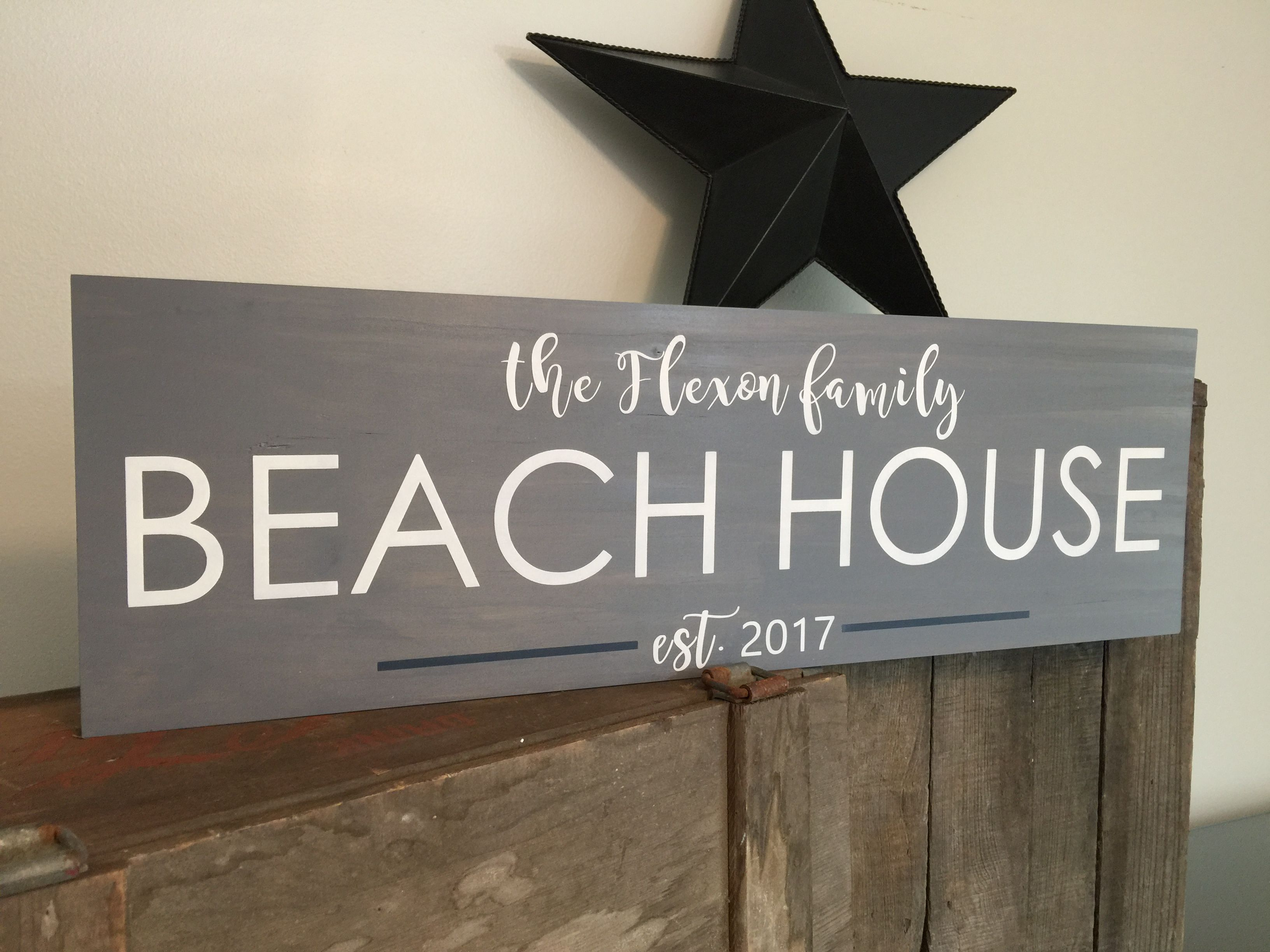 Beautiful Contemporary Customized Beach House Sign Makes A Great