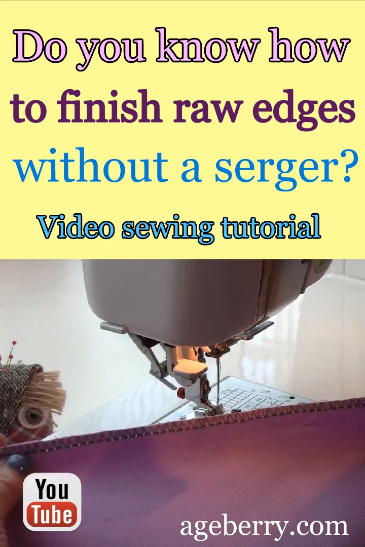 Photo of How to use a sewing machine overcast presser foot for sewing seams / video sewing tutorial