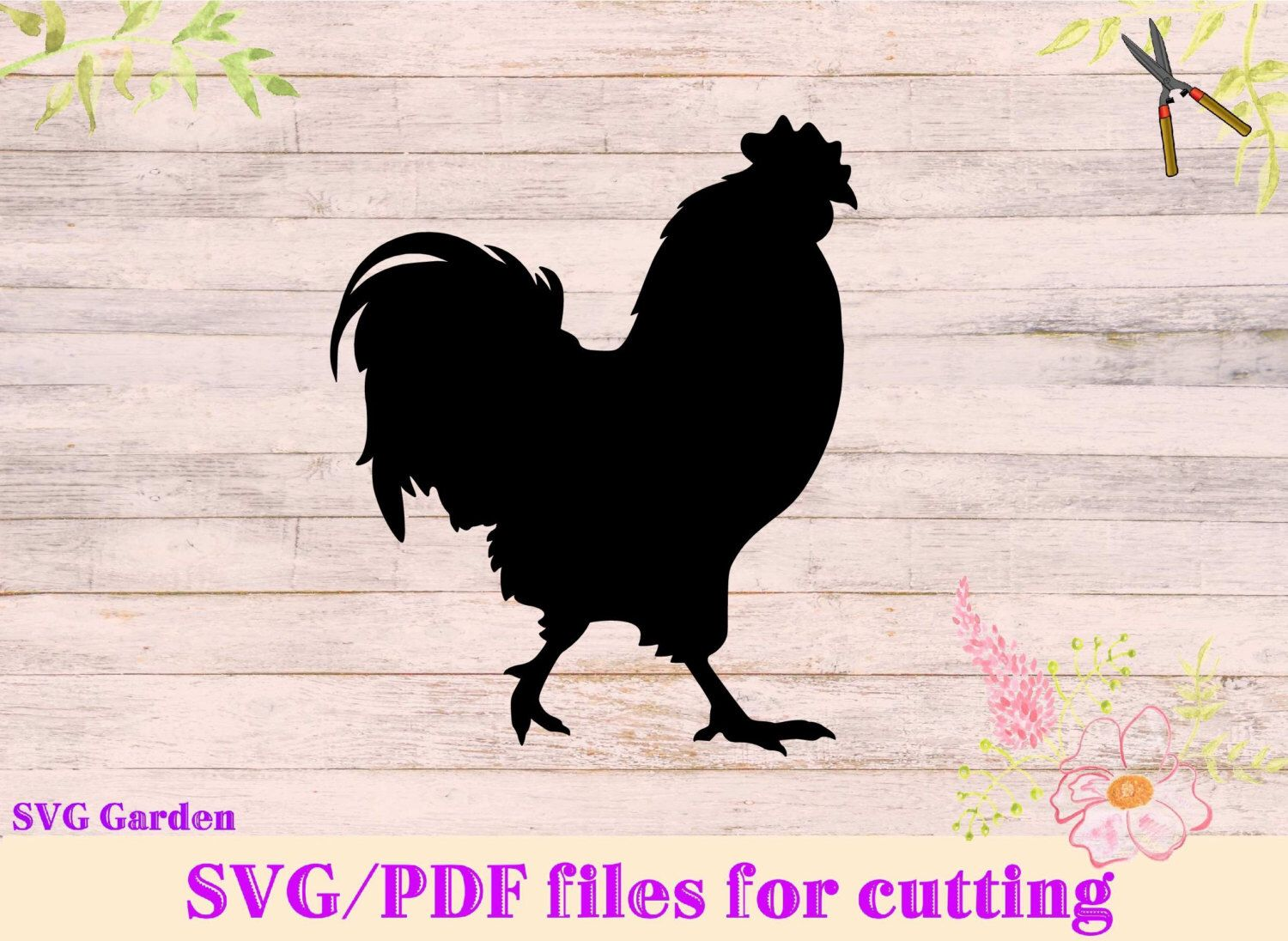 Chicken Svg: Rooster SVG File, Chicken SVG For Cutting Machines, Cricut