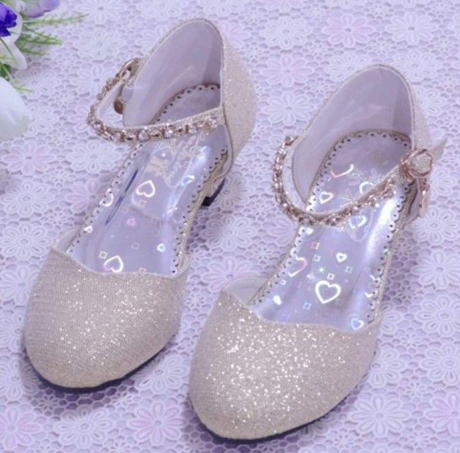 43454af157ff New 2015 Children Princess Sandals Kids Girls Wedding Shoes High Heels  Dress Shoes Party Shoes For Girls Pink  Blue Silver Gold-inSandals from Kids  ...