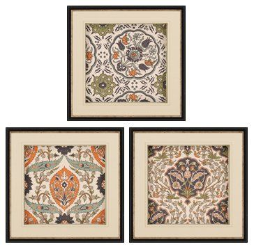 Decrenew paragon picture gallery 7372 persian tiles i traditional framed wall art wall decor