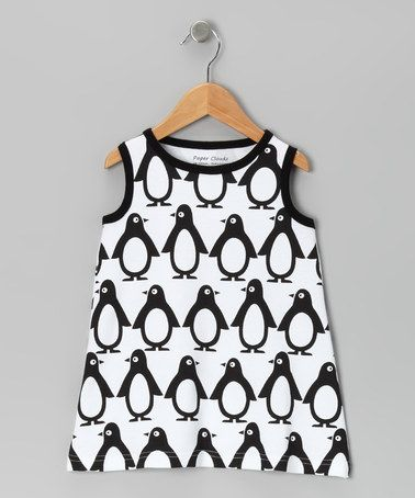 Take a look at this Black & White Penguin Dress - Infant & Toddler by Paper Cloudz on #zulily today!