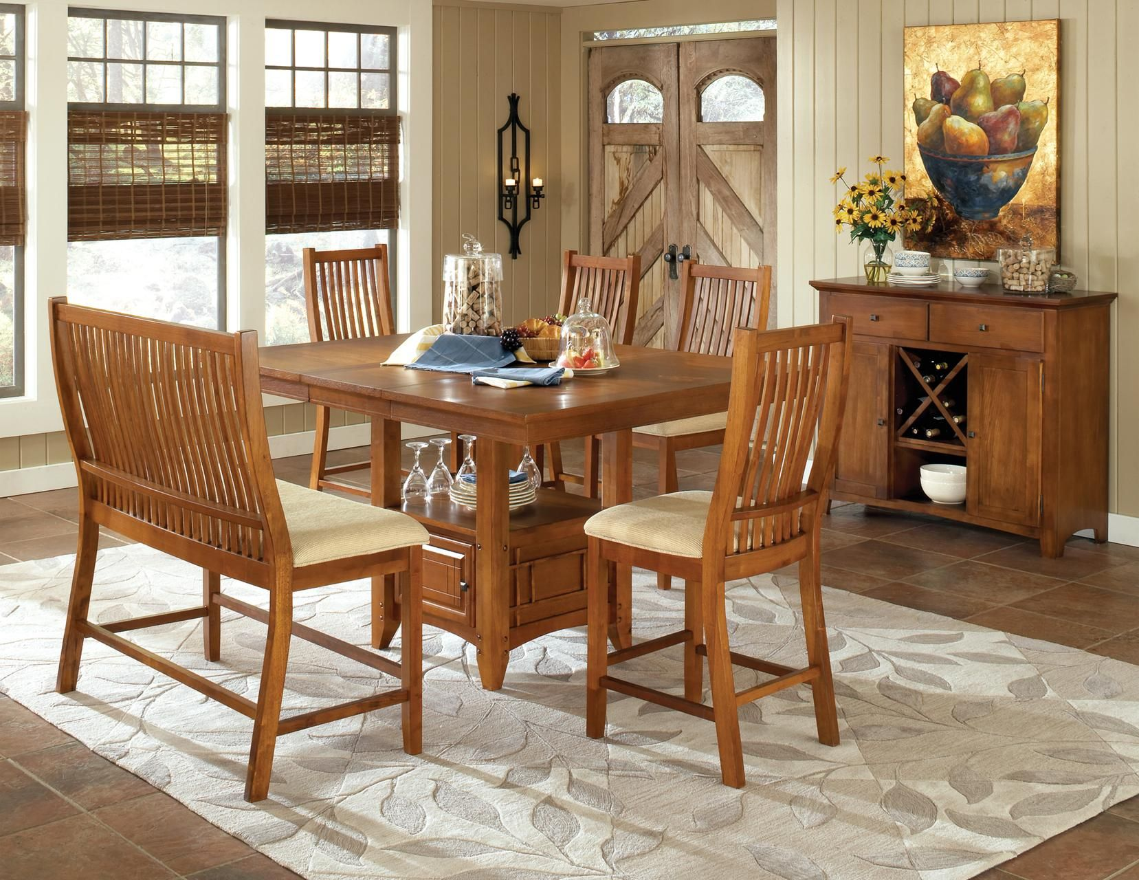 Tulsa Gathering Height Pub Table and Chair Set by Steve Silver
