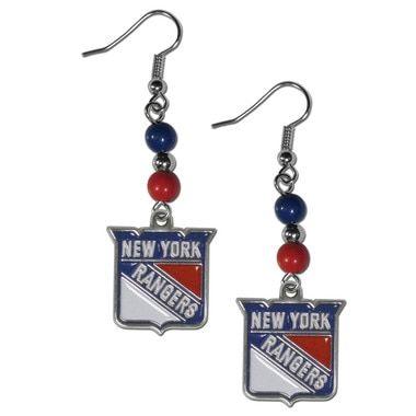 New York Rangers?? Fan Bead Dangle Earrings