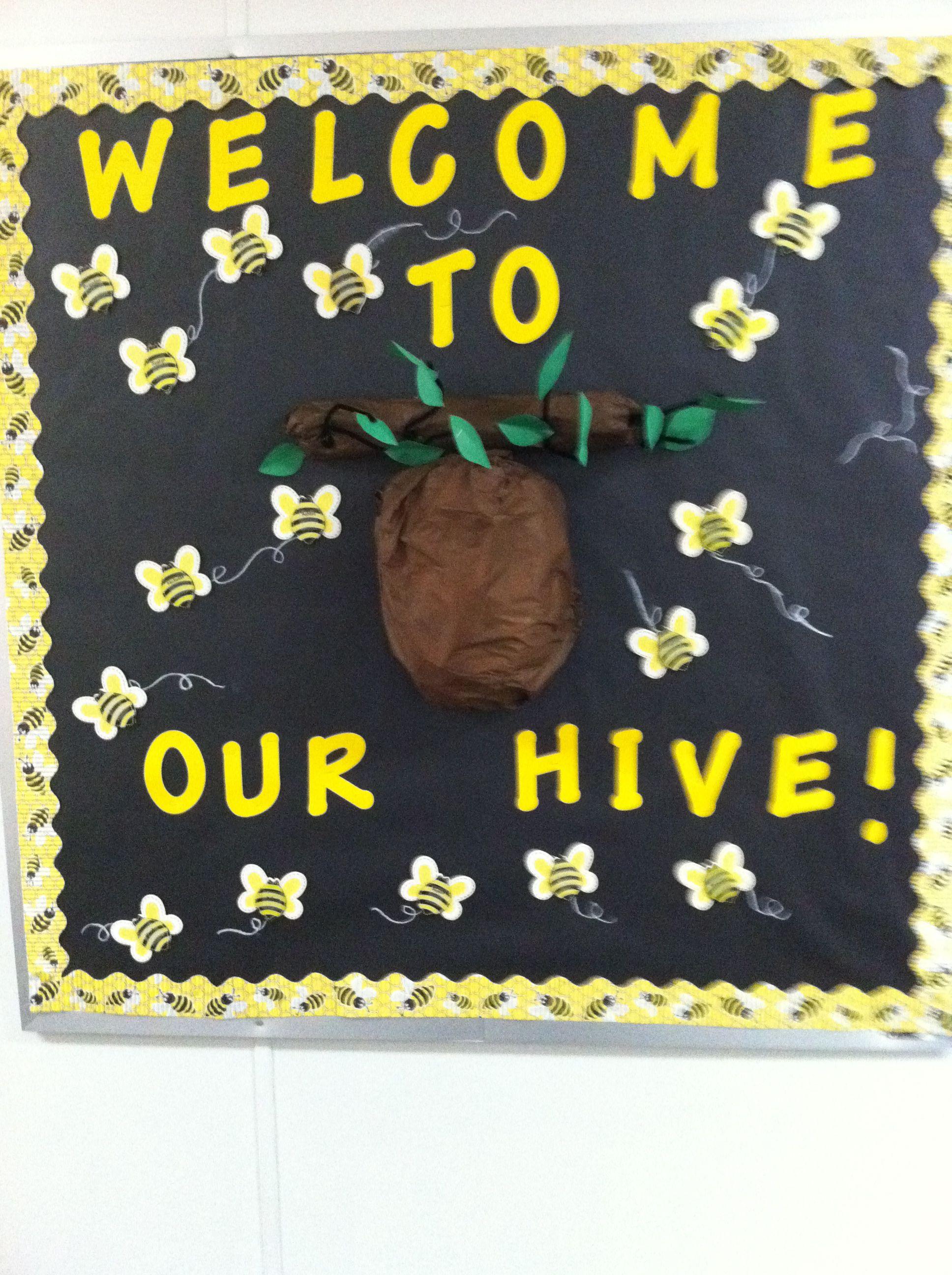 My Bee Themed Bulletin Board The First Week Of School