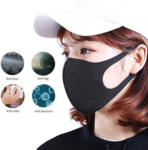 Cycling Face Cover With Replacement 5 Layers Insert Filter Pads Skin-friendly