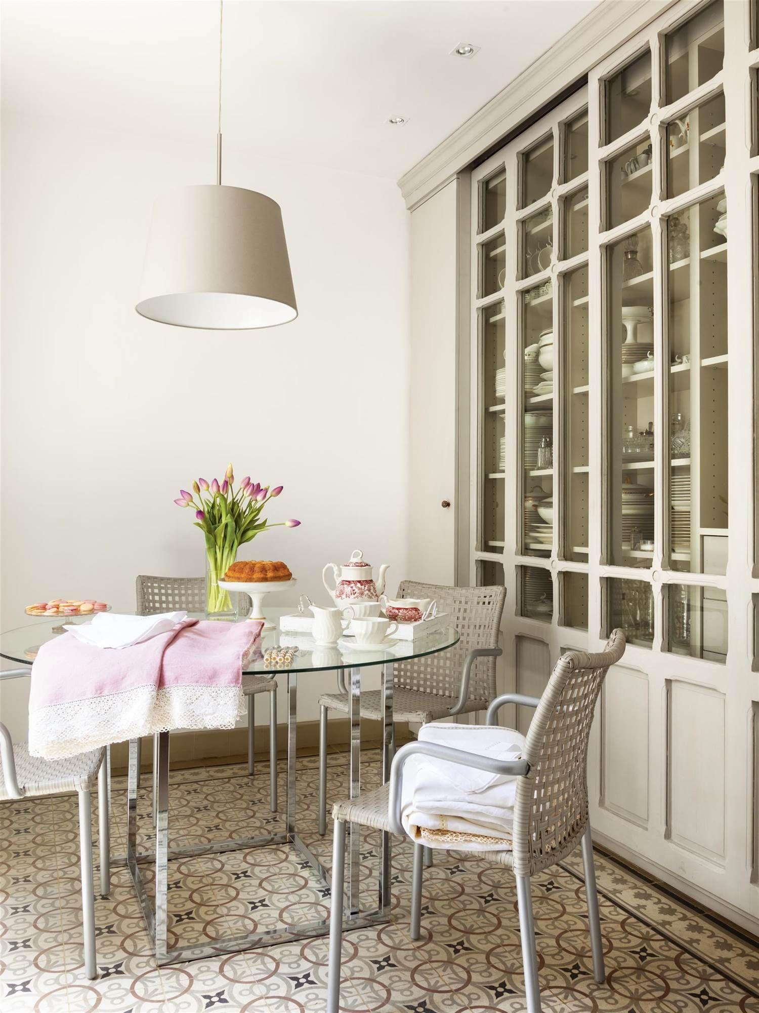 2 mesa redonda en 2019 decor muebles salon comedor - Mesas cristal salon ...