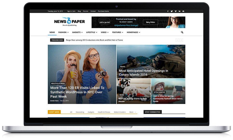 Newspaper – News, Magazine WordPress Theme #website More info: http://ksioks.com/portfolio/newspaper-news-magazine-wordpress-theme/