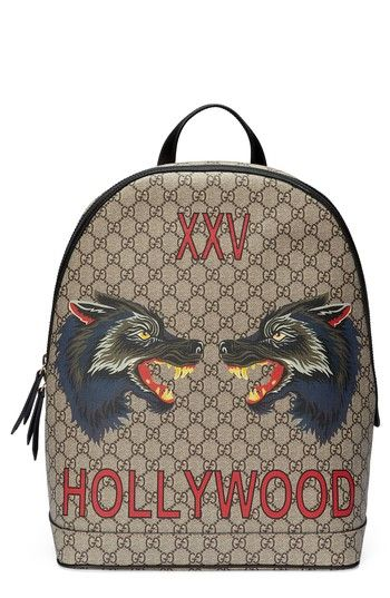 294c207eb04a GUCCI WOLF PRINT GG SUPREME BACKPACK - BLACK.  gucci  bags  canvas   backpacks
