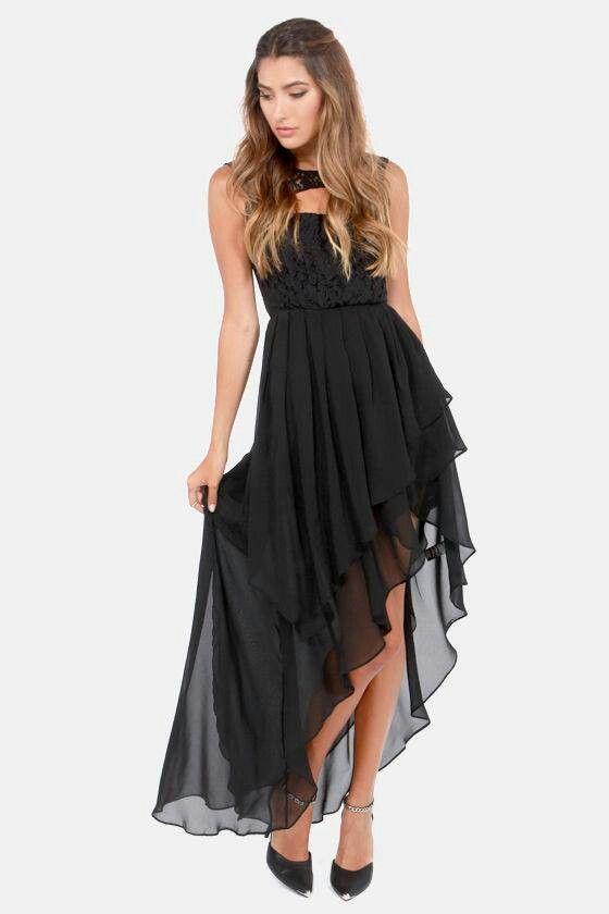 Como combinar un vestido negro cola de pato
