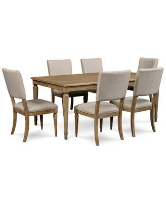summerside 7-pc. dining set (dining table & 6 chairs) | smitten