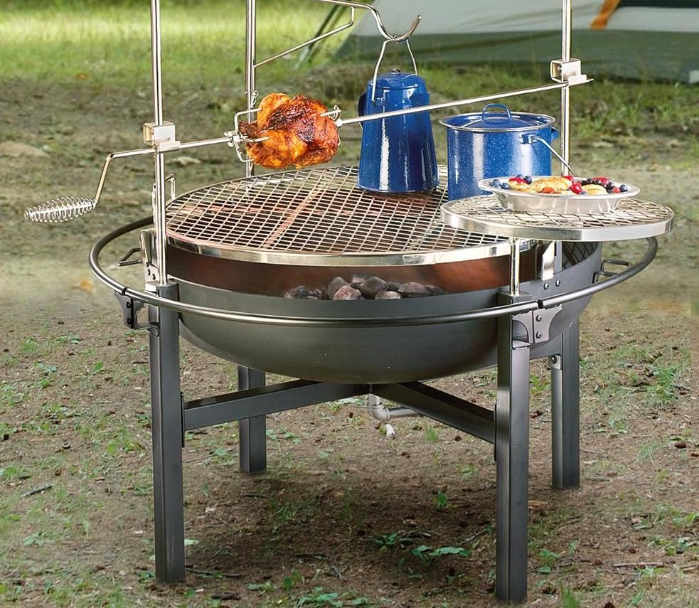 We just bought a 'Cowboy Fire Pit Rotisserie Grill,' and I cannot wait - We Just Bought A 'Cowboy Fire Pit Rotisserie Grill,' And I Cannot