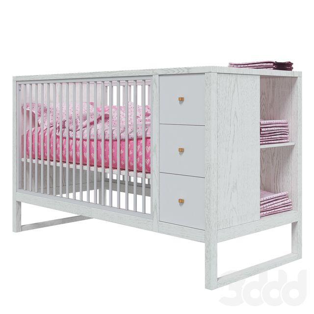 описание модели Детская кровать West Storage Crib с защитными бортиками и шкафчиком для хранения детских вещей, предназначенная для современных детских комнат. • Ширина: 760 mm • Длина: 1670 mm • Высота: 1020 mm Полигоны: 993112 Рендер: VrayNext Формат: 3Ds Max 2015, OBJ.