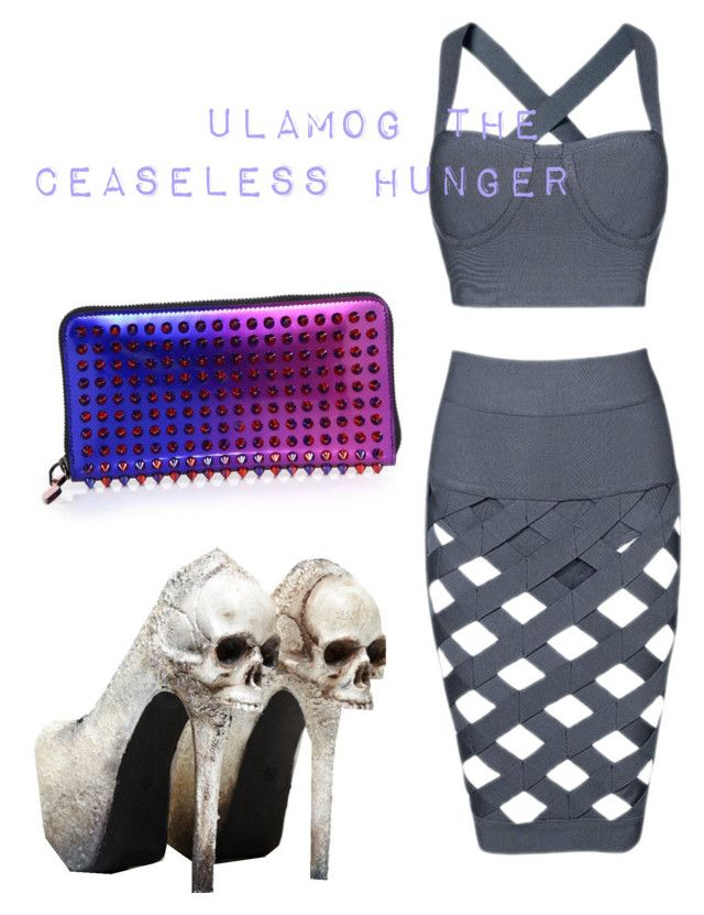 Ulamog the Ceaseless Hunger MtG Fashions by sailorscoutsarah on Polyvore featuring polyvore, fashion, style, Posh Girl and Christian Louboutin