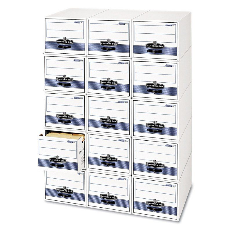 Fellowes Bankers Box Stackable Super Stor / Drawer Steel Plus Filing Storage - Moderate Use - FEL003